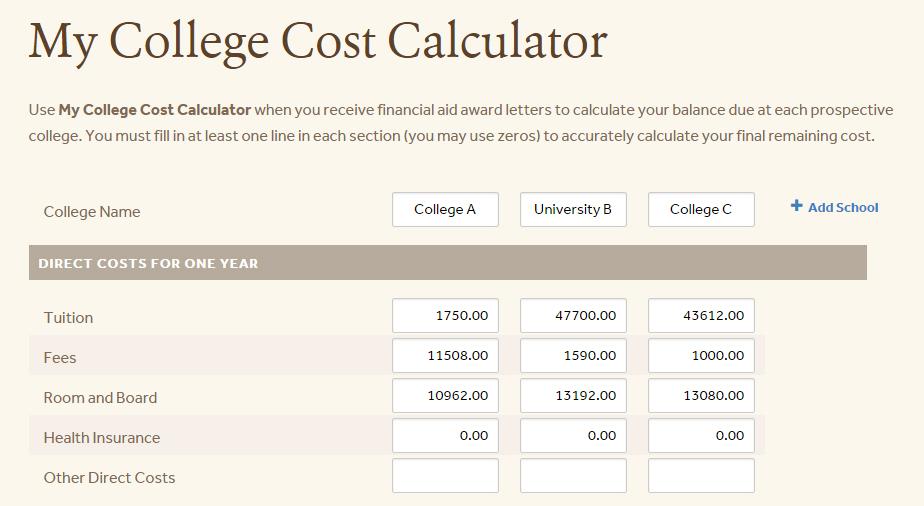 College Costs Part 1-1