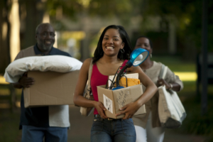 College student with parents moving into college