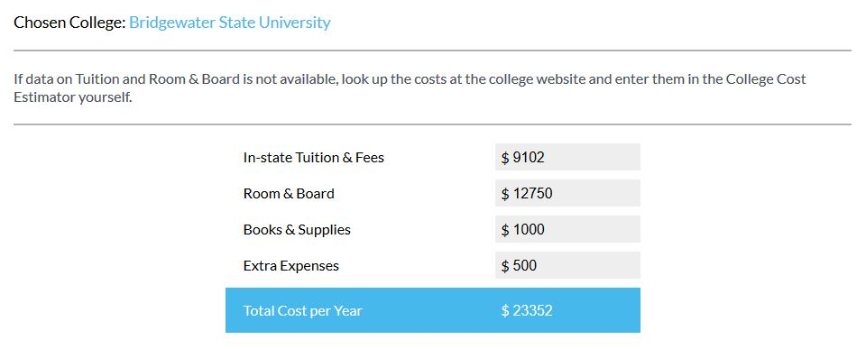 mefa pathways college cost calculator helps students make the college decision