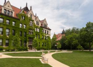 Ivy-clad college campus